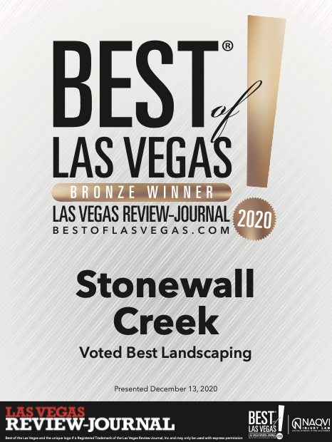 Best of Las Vegas Award 2020 for pond maintenance